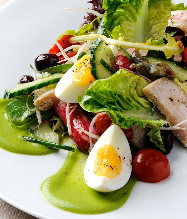 Toulouse-born Pascal Aussignac's salad Niçoise recipe is relatively classical - so the focus should be on ingredients and presenting it beautifully on a summer's day.