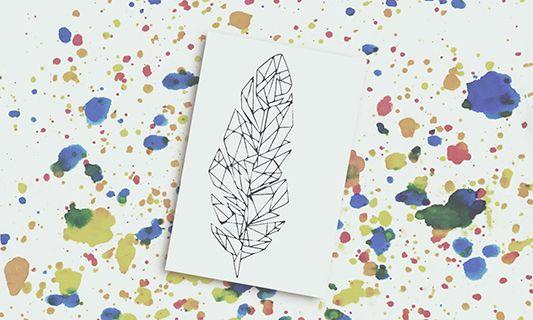 Titoo for you | Tatuaggi Temporanei Design | Piuma