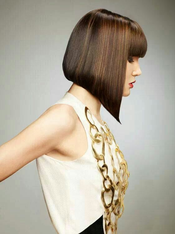 diagonal forward  heavy fringe
