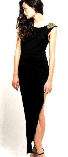 Blessed are the Meek heirachy black maxi dress $149.95 | threads and style