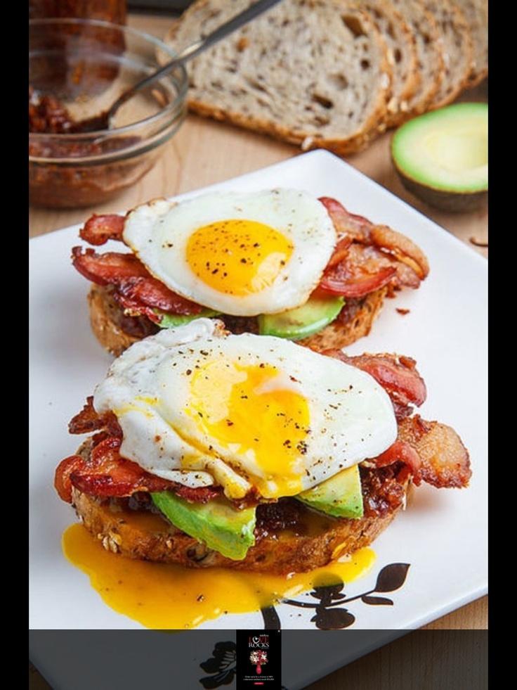 Bacon, egg, avocado sandwich | Creme fresh | Pinterest