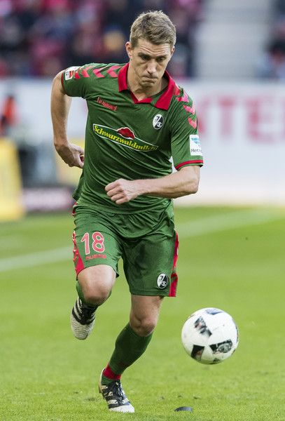 Nils Petersen of Freiburg during the Bundesliga match between 1. FSV Mainz 05 and SC Freiburg at Opel Arena on November 19, 2016 in Mainz, Germany.