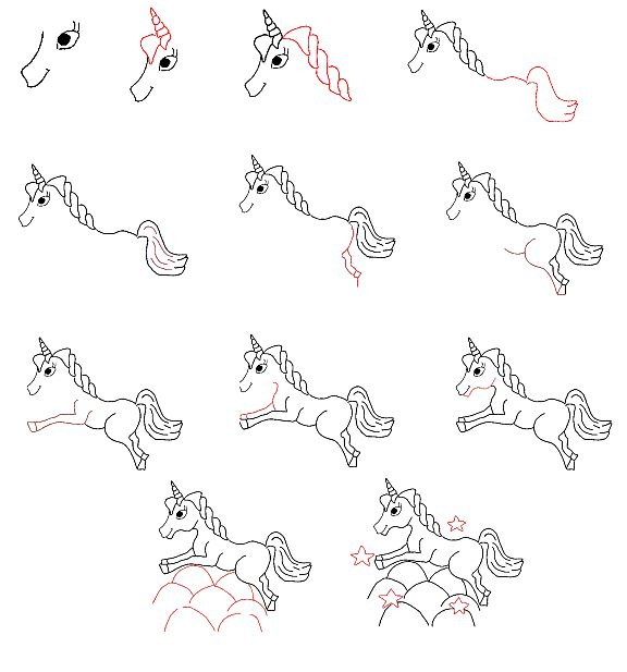 Easy to Draw Unicorn | ... learn to draw a unicorn step by step back to learn to draw page 3