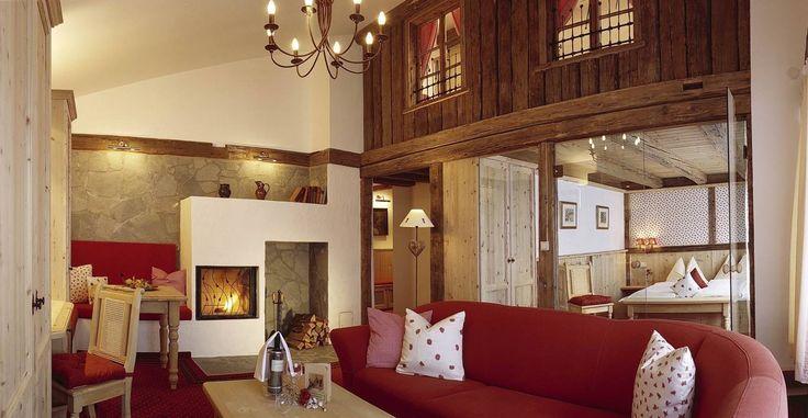 Suite familiale Penthouse avec cheminée à l'AktivHotel Veronika (Seefeld, Tyrol)