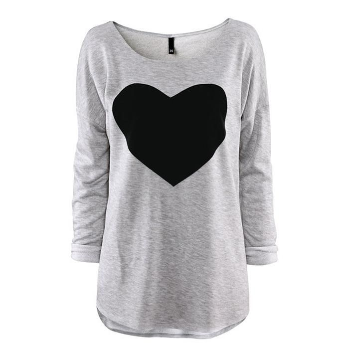 2015 Fashion T Shirt For Women Heart Tops Sweatshirt Long Sleeve Shorts T Shirt Female Plus Sizes Tee Dresses Autumn Summer Clothing S Xxl From Greenbuystore, $4.18   Dhgate.Com