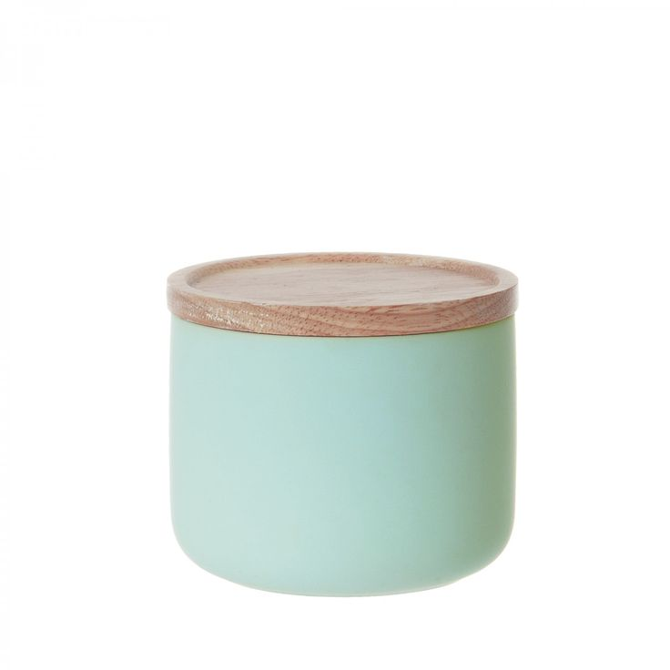 Small Silk Canister - Peppermint Blue @ Howkapow