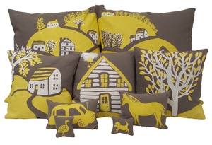 Village of throw pillows.