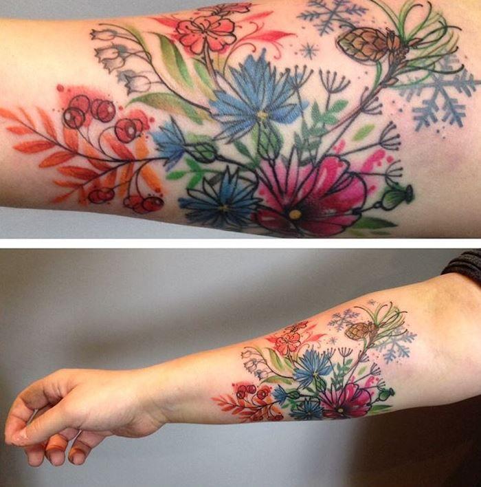 Summer Flowers Tattoo