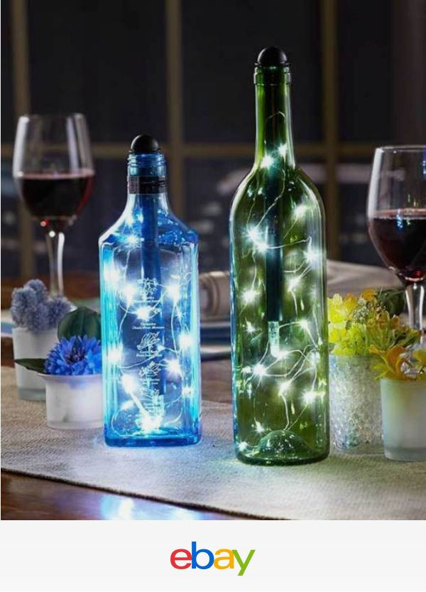 2 pack fortune light my bottle wine bottle string lights for Outdoor decorating with wine bottles