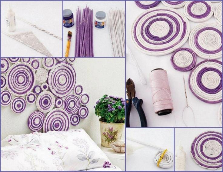 Diy Diy Projects Diy Craft Handmade Diy Ideas Diy Recycled Newspaper Panel Home