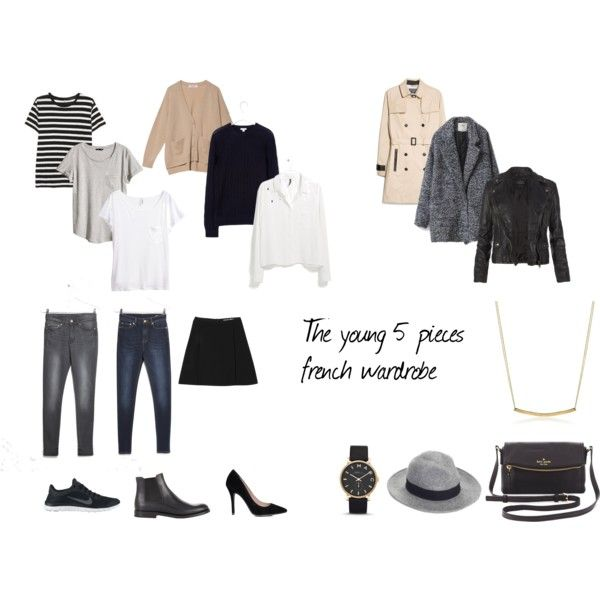 The young 5 pieces french wardrobe by hollyhopp on Polyvore featuring MANGO, H&M, Organic, AllSaints, Church's, Kate Spade, Adina Reyter, MARC BY MARC JACOBS, Whistles and Chictopia