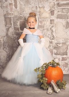 This is a Cinderella tutu dress. Cinderella is such a famous story they even made costumes to dress up into so young girls could transform into a beautiful princess just like Cinderella. This is a form of magic because the little girls put the dresses on and they become something they've all dreamed of.