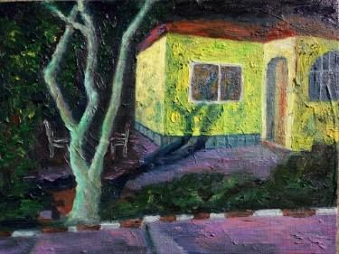 "Saatchi Art Artist Boboc Mihai; Painting, ""The house view during night"" #art"