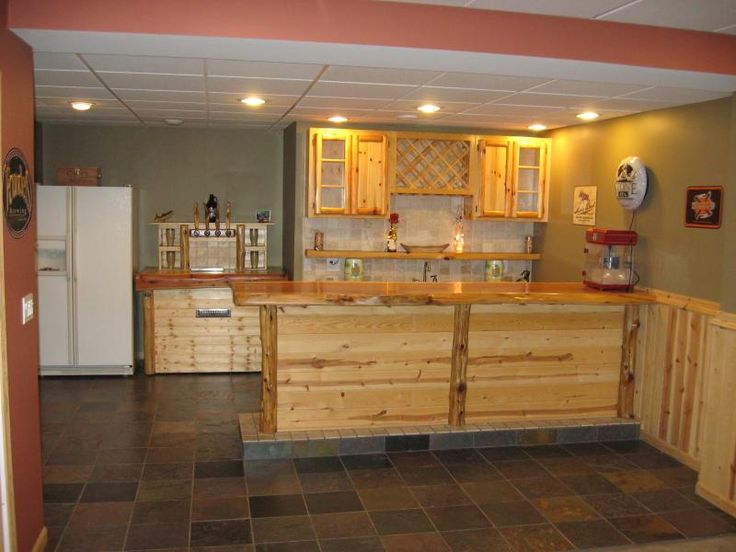 Diy Home Basement Rustic Bar
