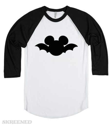 Mickey Mouse Bat Halloween t-shirt. Available in Men's, women's, children's and infant's sizes in a variety of styles and colors! The perfect shirt to wear to Mickey's Not So Scary Halloween Party!