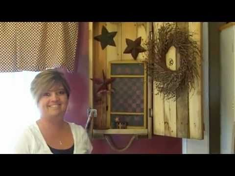 Primitive Country Decorating Ideas - Dynamite Crate Makeover ... In this video of Primitive Country Decorating Ideas we makeover a dynamite crate. This in turn creates an unusual wall display.  Thanks for watching:) Check out our Facebook Page:)   http://www.facebook.com/pages/Country-Corner/123025284380957