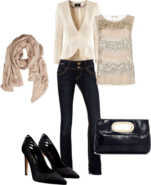 """Sequin and blazer"" by eleganteve on Polyvore"