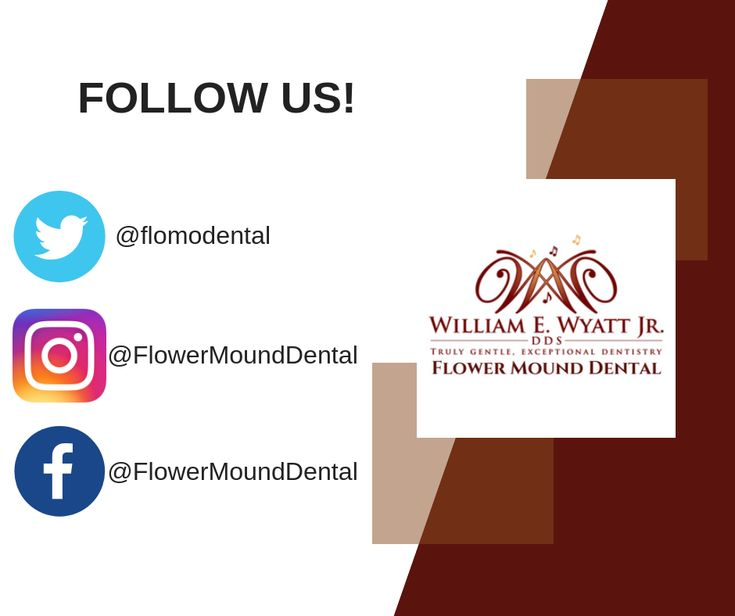 Follow us on facebook instagram twitter best dentist