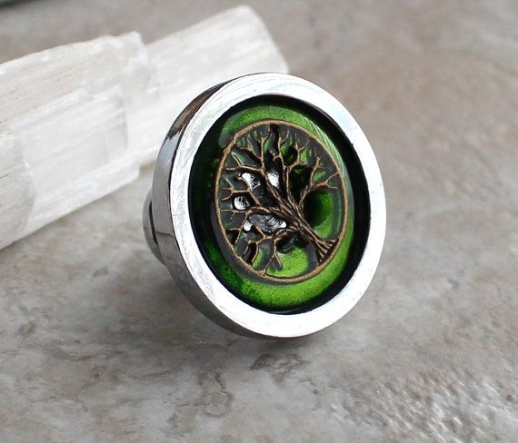green tree drawer pull dresser hardware cabinet by NatureWithYou