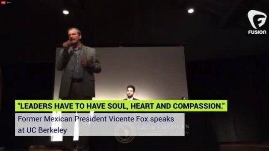 LIVE from Berkeley: Former Mexican President Vicente Fox gets real about Trump the wall and the fut #news #alternativenews