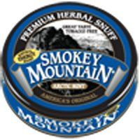 Smokey Mountain Snuff, 5 Cans - Arctic Mint - Tobacco Free, Nicotine Free