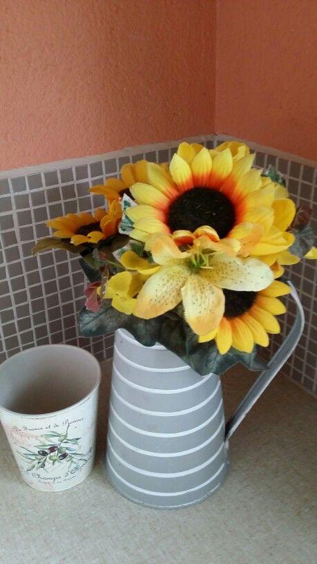 Sunflowers on a gloomy day