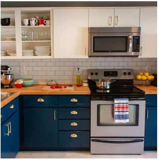 Kitchen Cabinet Renovations: 55 Best Navy & Yellow In The Kitchen Images On Pinterest