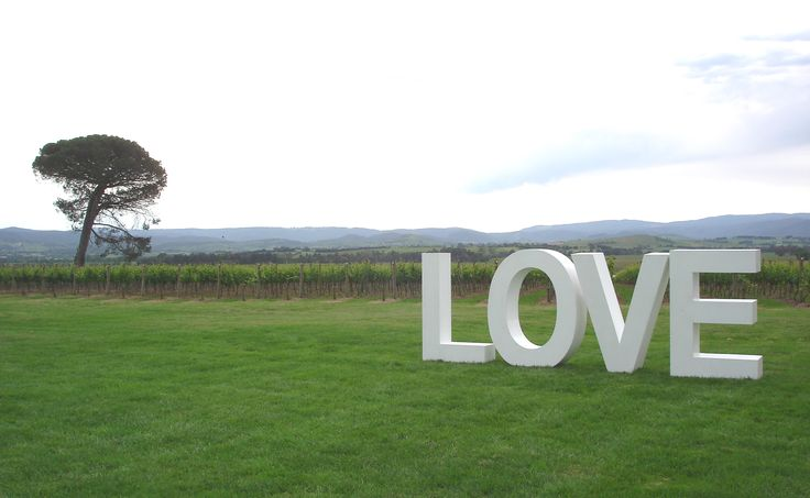 'LOVE' at Stones of the Yarra Valley