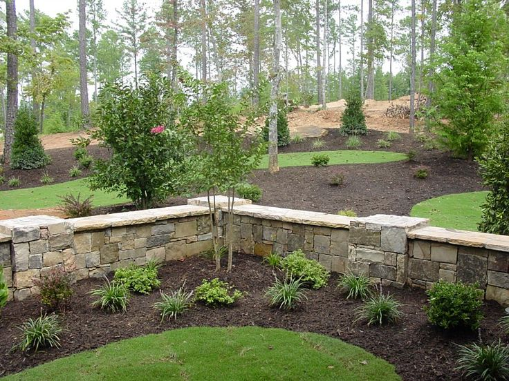 40 best garden retaining wall by fence images on pinterest for Flower bed wall designs