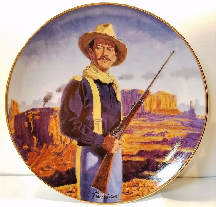 John Wayne - Hero of the West - From the Film Rio Grande Franklin Mint Plate
