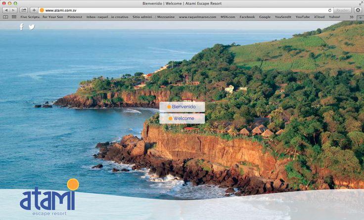 website atami escape resort, idiomas. 2014. ®raquel maron estudio creativo