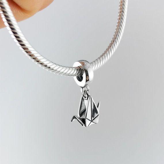 Silver Origami Paper Crane Pandora Bracelet Charm,Pandora Bracelet,Pandora  Charm,Christmas Gift