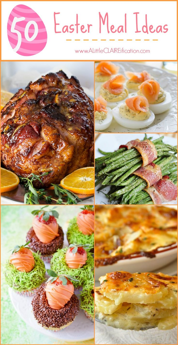 50 Easter Meal Ideas www.alittleclaireification.com