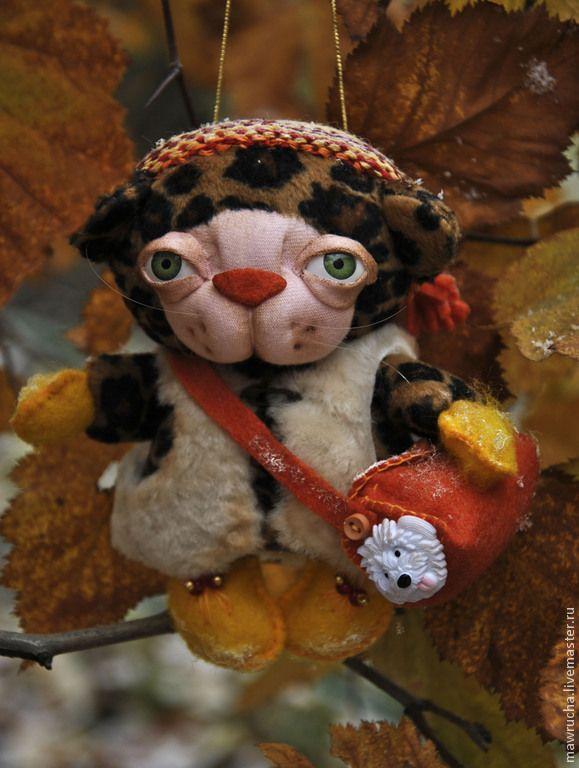 Купить Тигренок Йети.Интерьерные игрушки - коричневый, рыжий, оранжевый, тигр, тигренок, собака, ребенок