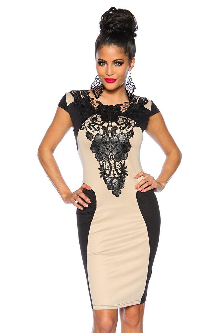Κομψό φόρεμα ένα πραγματικό χάρμα οφθαλμών. Το φόρεμα έχει ένα low-cut πίσω και δημιουργεί μια εκπληκτική εικόνα. Το μαλακό ύφασμα προσφέρει υψηλή άνεση και αναγαλλιάζει τις καμπύλες σας τέλεια. Το μήκος του είναι περίπου 66 εκατοστά.