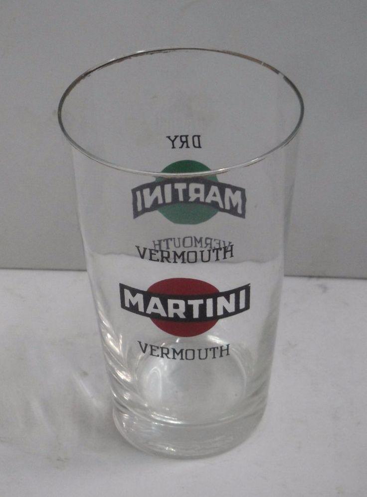 martini mixing glass vetro