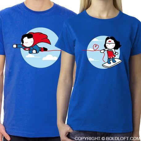 superhero couple shirts tumblr