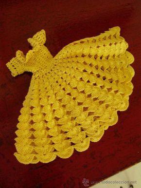 Vestidos de muñecas a crochet - Imagui