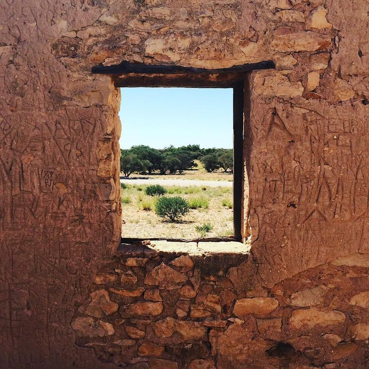 Window to the outback Carcory Ruins #birdsville #outbackqueensland #thisisqueensland #diamantina #outbackaussietours #desert by anitaclark51