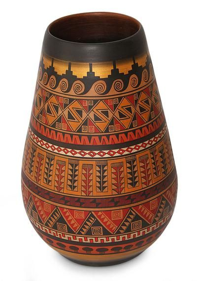 Cuzco decorative vase, 'Inca Art' by NOVICA