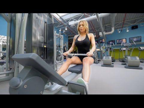 Екатерина Усманова: тренировка спины и задней дельты - YouTube