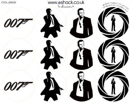 24 x PRE-CUT James Bond 007 Cake Toppers By Eshack by eShack, http://www.amazon.com/dp/B009T3Q238/ref=cm_sw_r_pi_dp_v5dhrb183VNB4