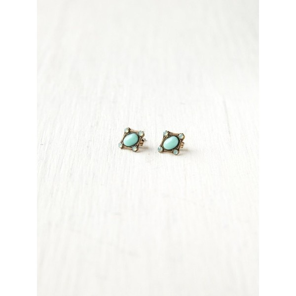 Free People Crystal Stone Studs ($18) found on Polyvore