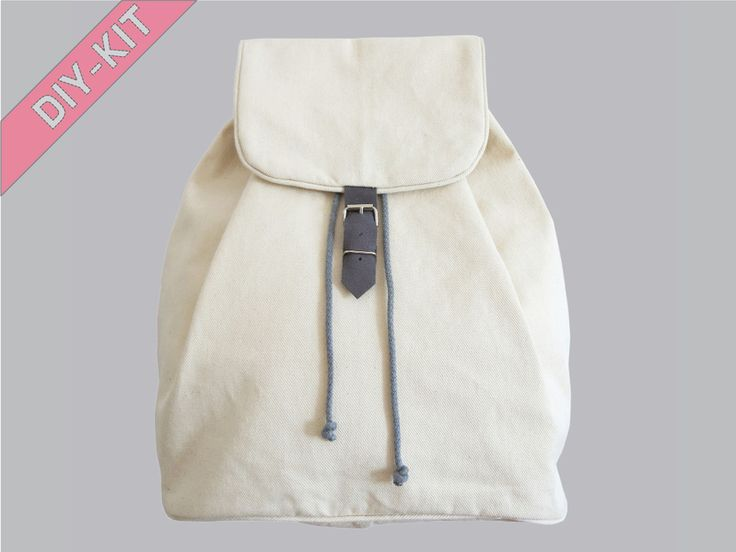 Nähanleitung, DIY-Kit Rucksack mit Kordel // diy sewing kit, bagpack by DIY Sewing Academy via DaWanda.com