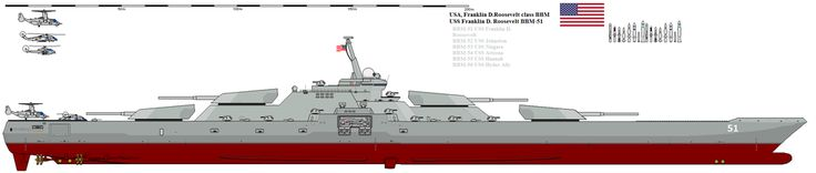 Battleship Franklin D. Roosevelt class by Davinci975.deviantart.com on @DeviantArt