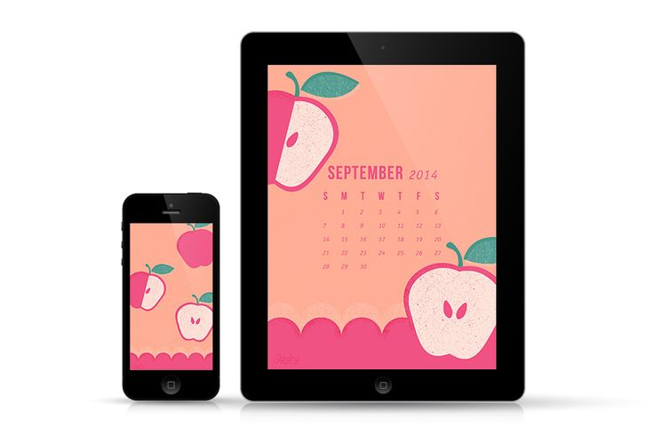Dress up your desktop with this free September 2014 calendar wallpaper. Available for phones, tablets, and computers.