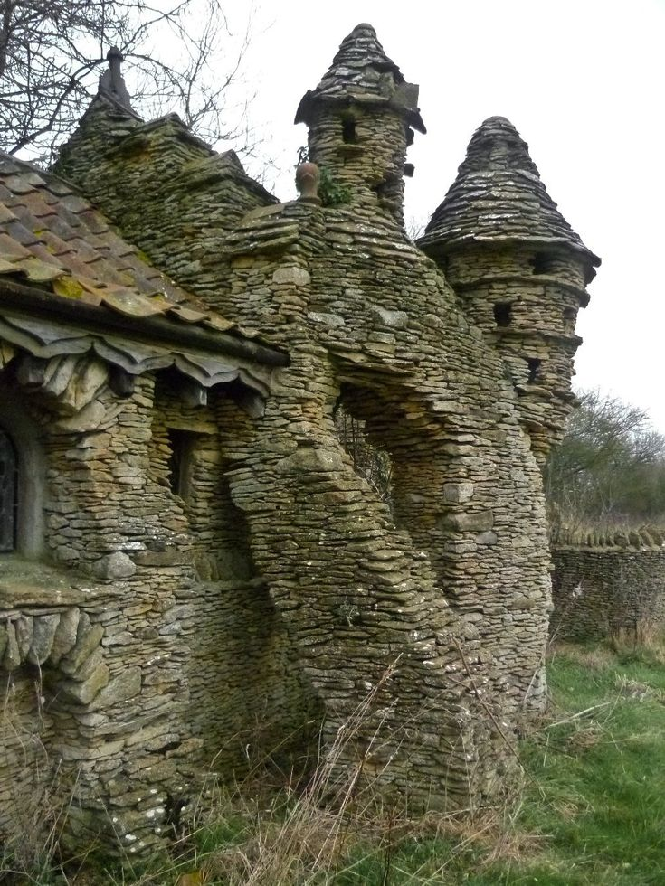 This abandoned hobbit house was built in 1980 by an eccentric farmer as a whimsical barn for his sheep. Located in England. (Source)