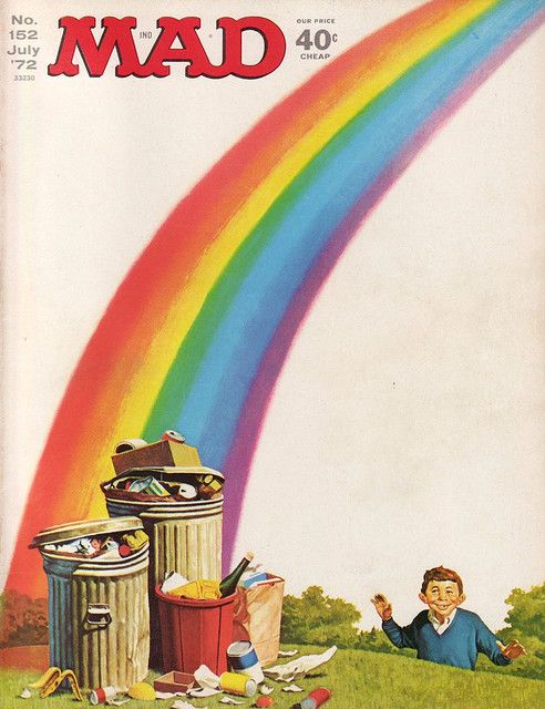MAD Magazine Cover Alfred over the rainbow.