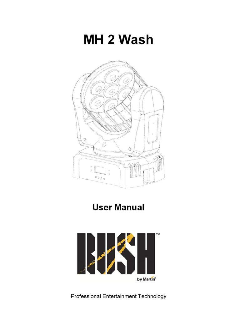 Martin rushmh2wash Manual