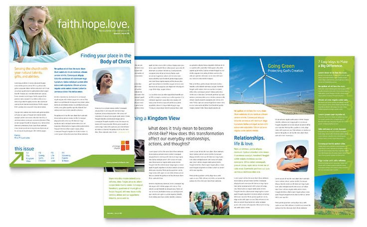 youth ministry newsletter design inspiration